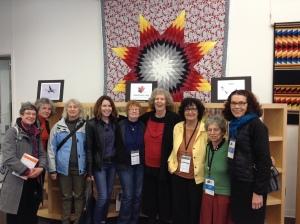 Mora Gregg, Barbara Schott, Clarise Foster, Margaret Sweatman, Teri Degler, me, Judy Rebick, Susan McCaslin, Ellen Jaffe